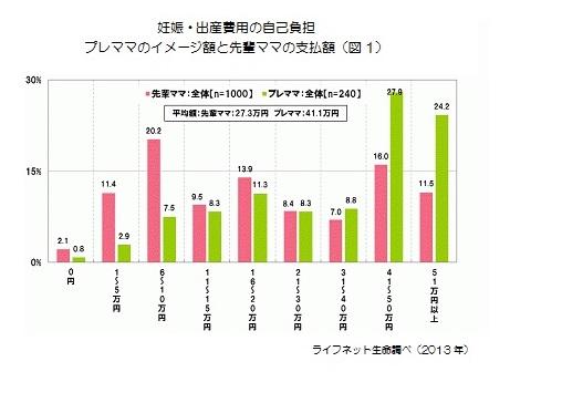 data2_1_妊娠出産費用の自己負担額(図1・ライフネット生命)