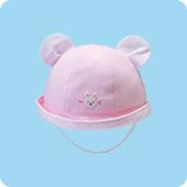 お耳つきベビー帽子