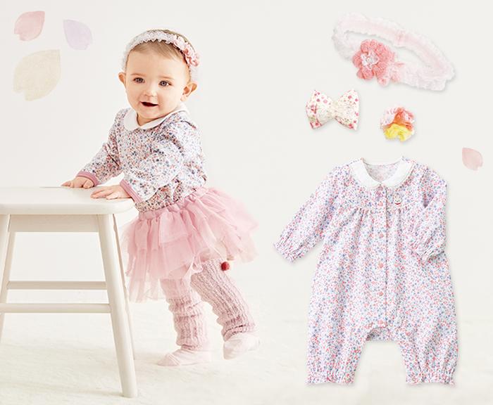 赤ちゃんの春のお洋服(女の子)