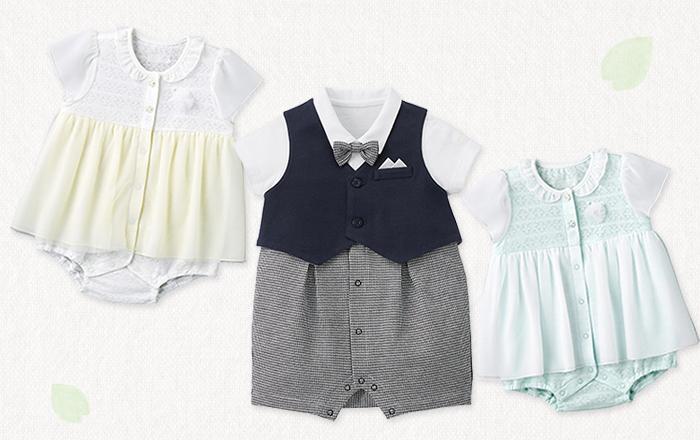 春から夏にかけてのお呼ばれやセレモニーにぴったりな、赤ちゃんのお洋服。