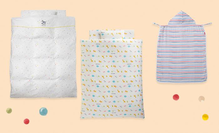 暑い夏には、赤ちゃん用のガーゼふとんカバーやキャリーケープもおすすめです。