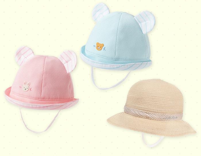 赤ちゃんの夏のおでかけ、紫外線対策にマストなベビー帽子