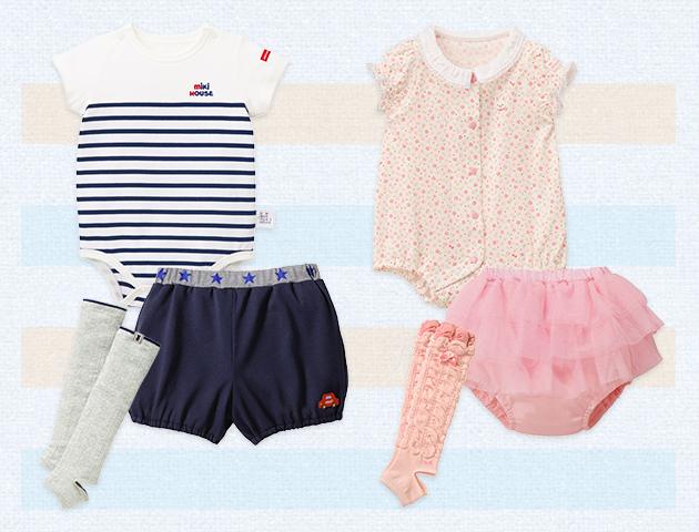 おすわり・ハイハイ期 夏のマストアイテム その2 ボディシャツ+ブルマ&トレンカ
